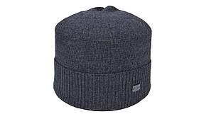 Шапка Caps Zone Diezel 55-59 см Темно-сірий меланж (40917-1)