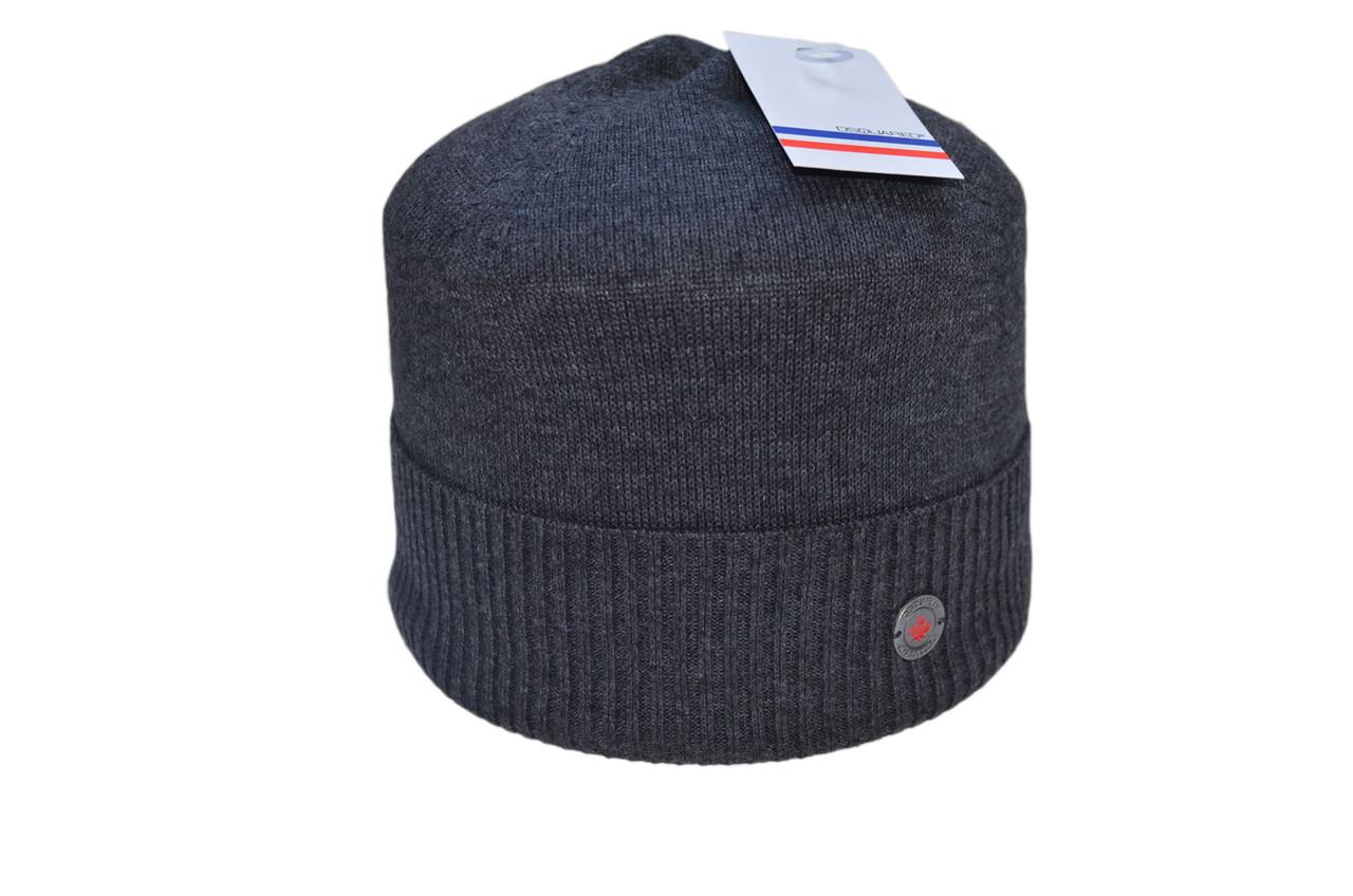 Шапка Caps Zone Dsquared 55-59 см Темно-серый меланж (40917-3)