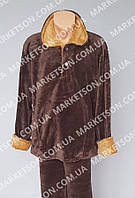 Пижама женская теплая, махровая с длинным рукавом р. 42-56