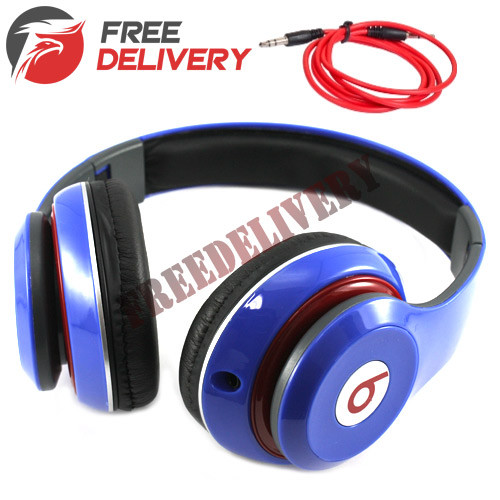 Наушники проводные накладные ST-408 ST-S2, реплика Beats Studio, синие