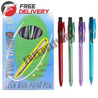 48x Ручка шариковая автоматическая Duoyi DY-202A, синий 0.7мм