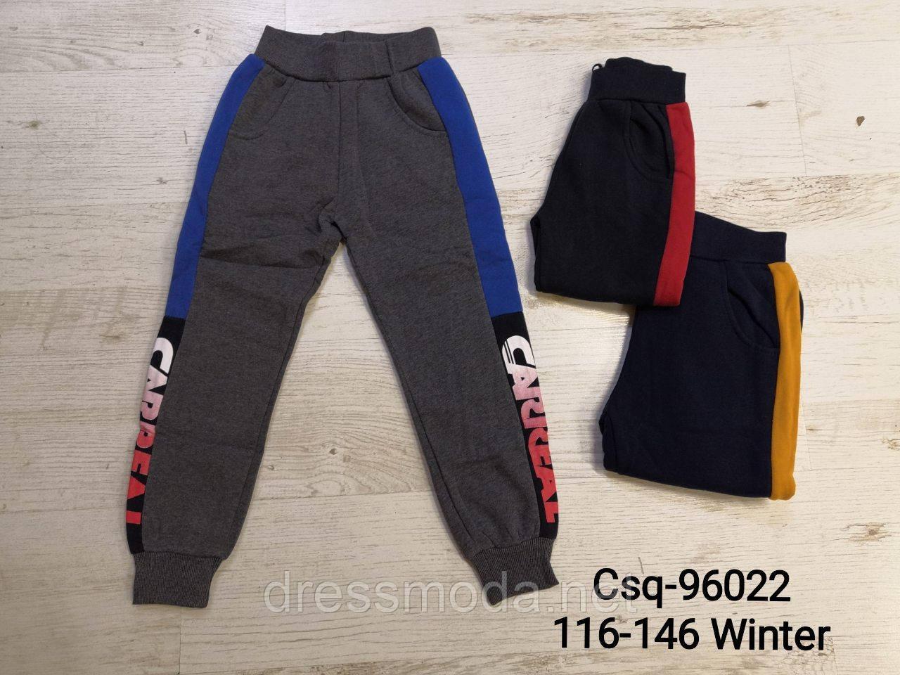 Трикотажные спортивные брюки с  начесом для мальчиков Mr.David 116-146 p.p.
