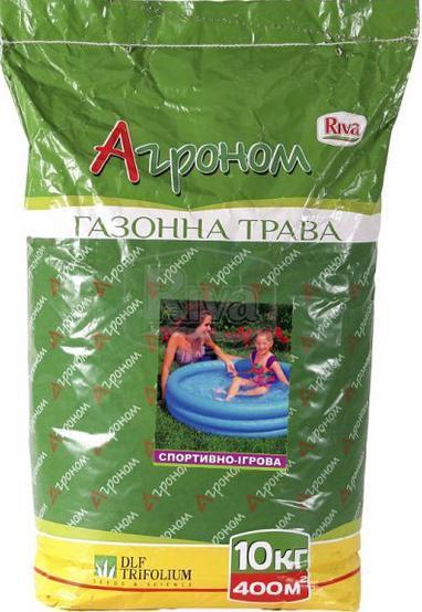 Трава газонная - Спортивно-игровая Агроном (10кг)