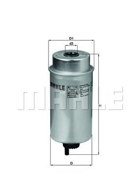 Фильтр топливный Mahle FORD TRANSIT 2000 (2.0,2.4DI)Украина Харьков