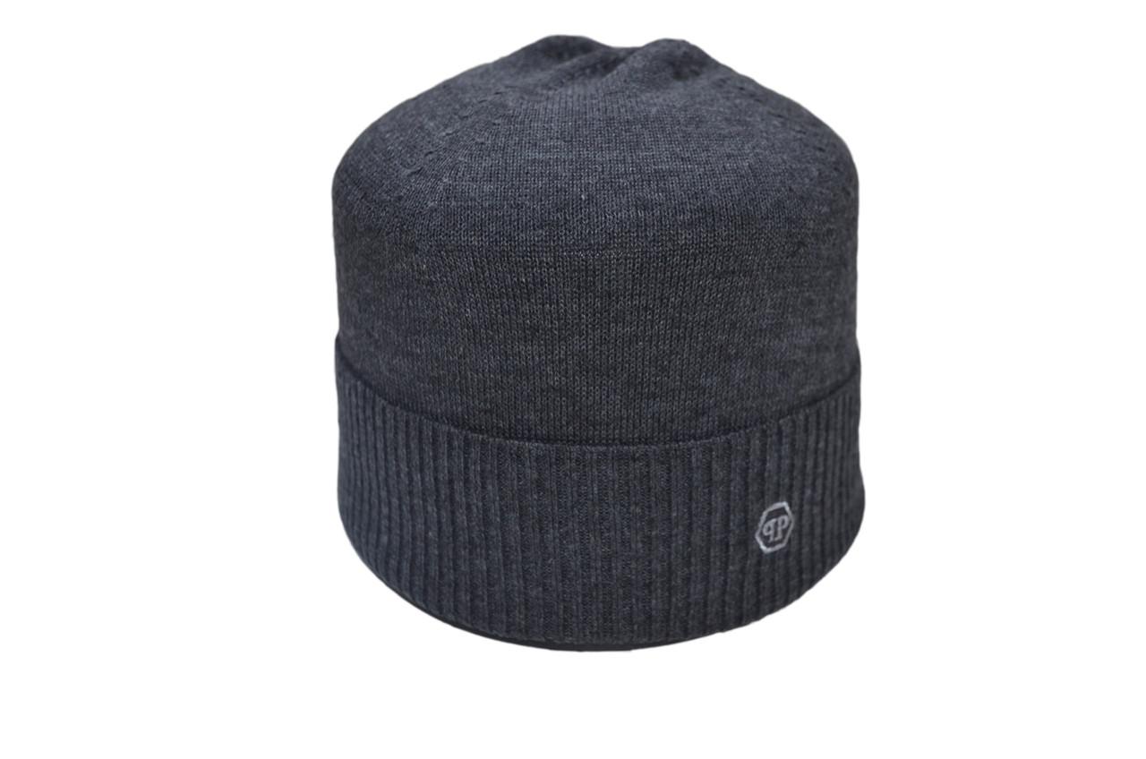 Шапка Caps Zone Philipp Plein 55-59 см Темно-серый меланж (40917-12)