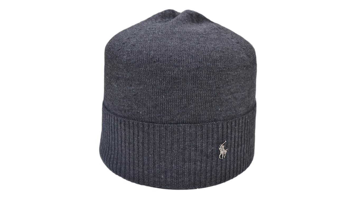 Шапка Caps Zone Polo Ralph Lauren 55-59 см Темно-серый меланж (40917-16)