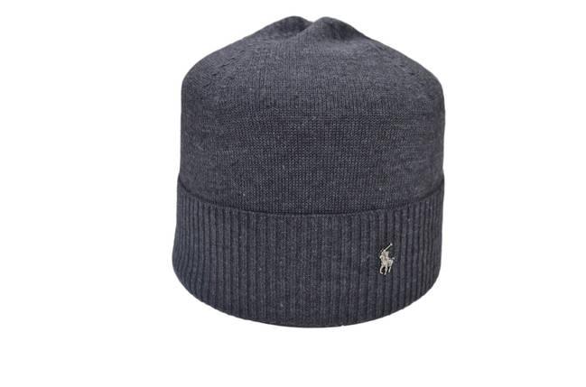 Шапка Caps Zone Polo Ralph Lauren 55-59 см Темно-серый меланж (40917-16), фото 2