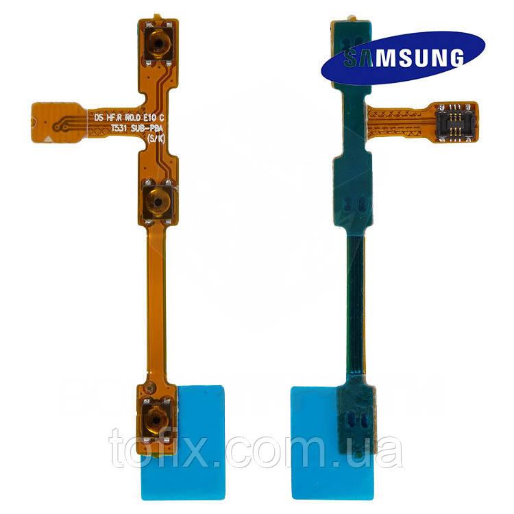 Шлейф для Samsung Galaxy Tab 3 P5200, P5210, боковой кнопки, кнопки включения, оригинал