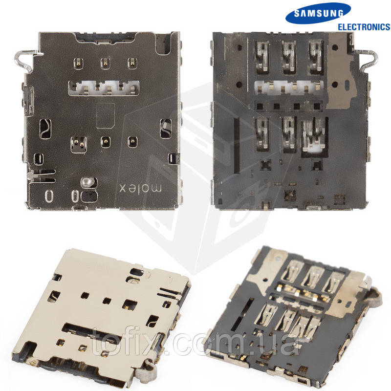 Коннектор SIM-карты для Samsung Galaxy S6 EDGE G925F, оригинал