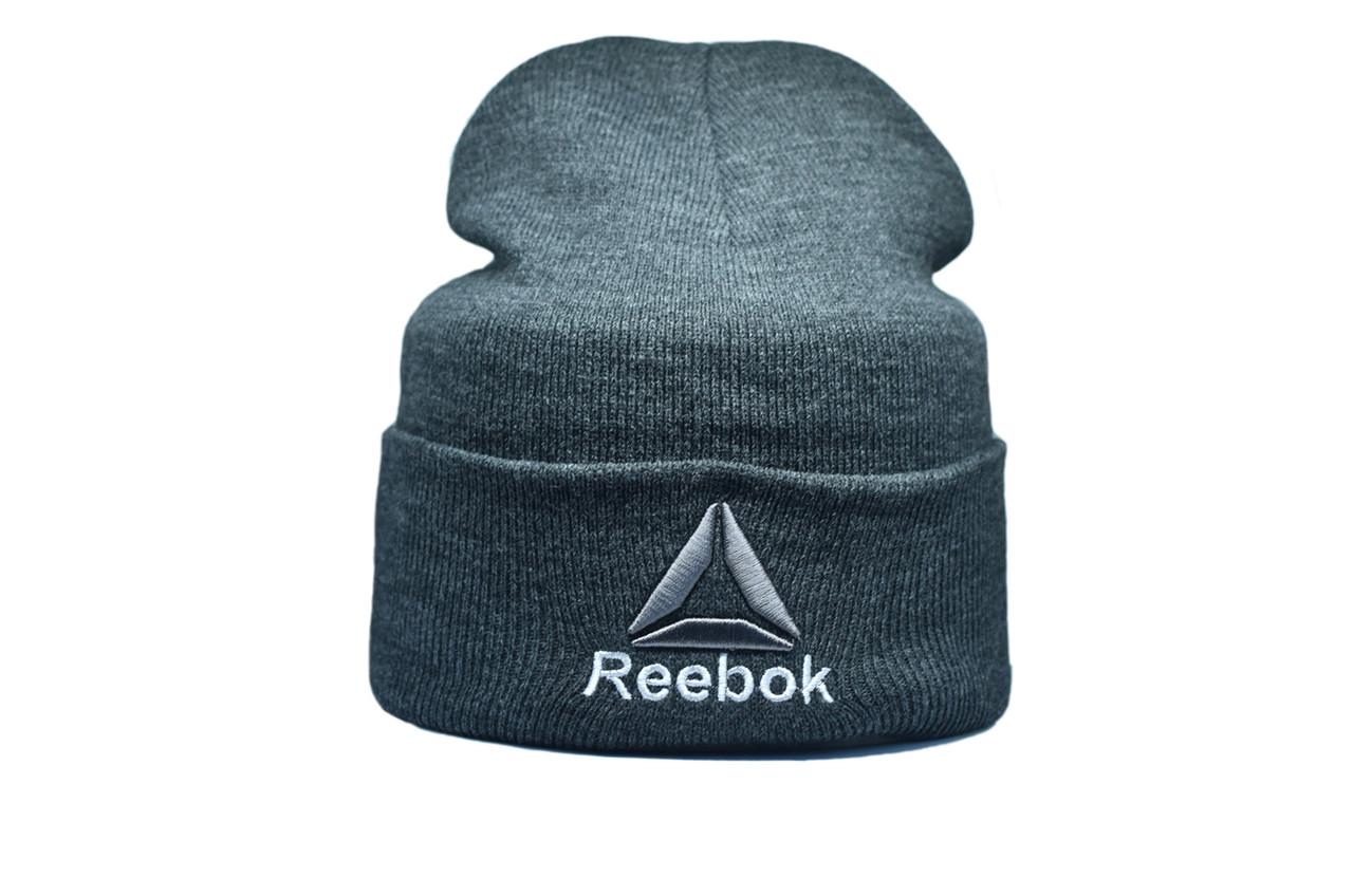 Шапка Flexfit Reebok 55-59 см Темно-серый меланж (F-09118-5)