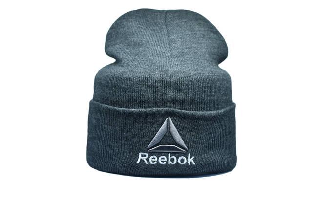 Шапка Flexfit Reebok 55-59 см Темно-серый меланж (F-09118-5), фото 2