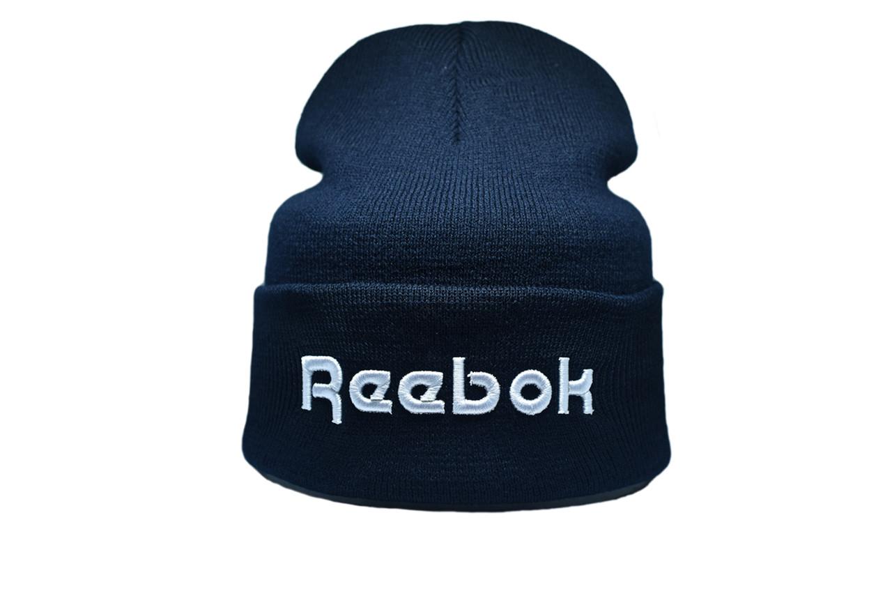 Шапка Flexfit Reebok 55-59 см Темно-синий (F-09118-7)