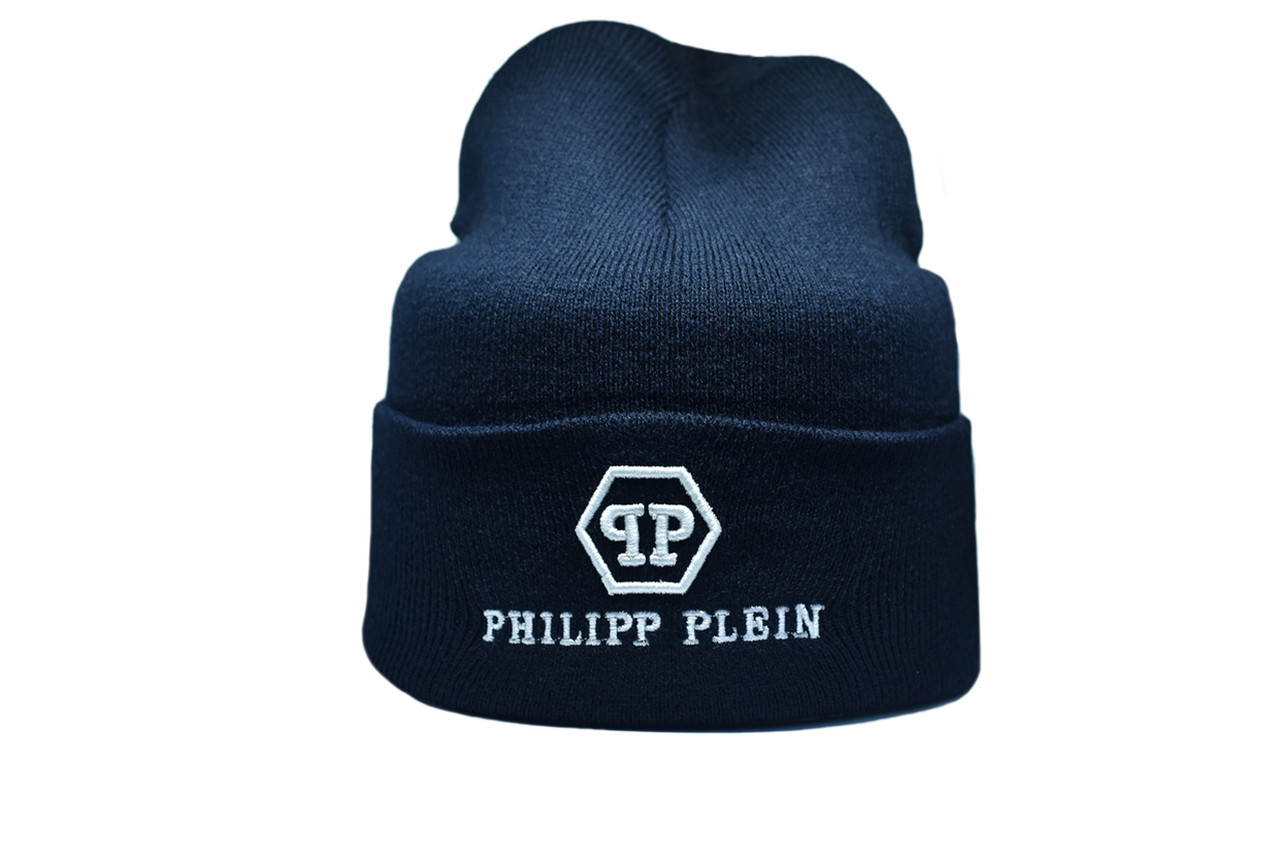 Шапка Flexfit Philipp Plein 55-59 см Темно-синий (F-09118-10)