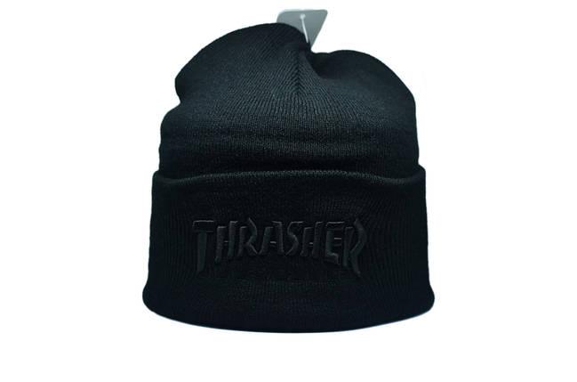 Шапка Flexfit Thrasher 55-59 см Чёрный (F-09118-32), фото 2