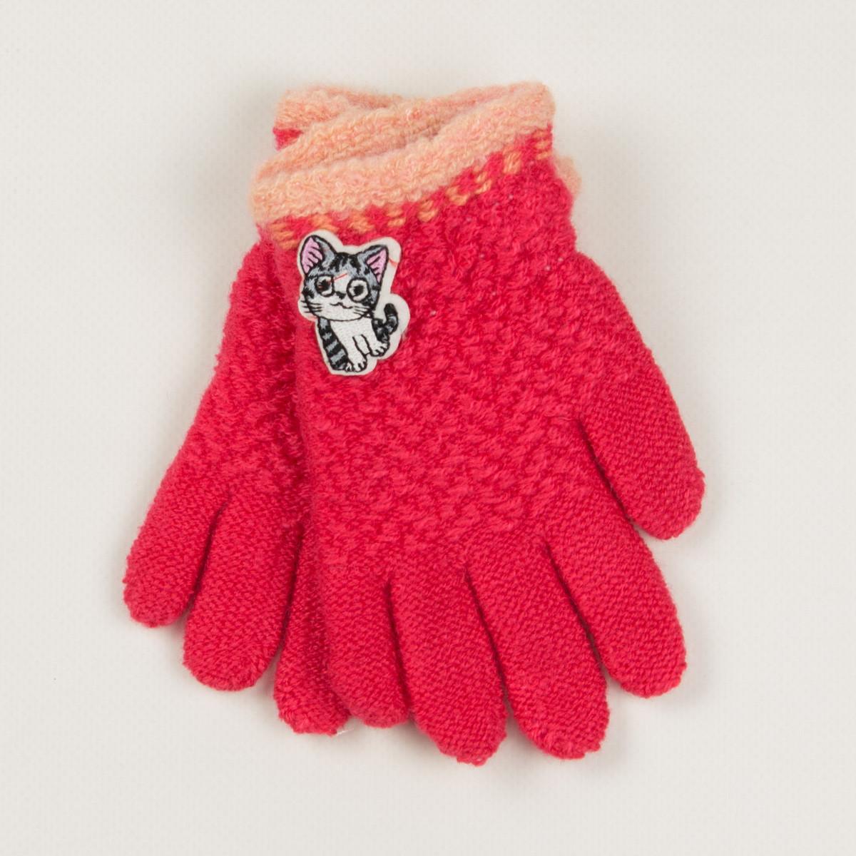 Демисезонные перчатки для девочек2-3 лет- 19-7-43 - Коралловый