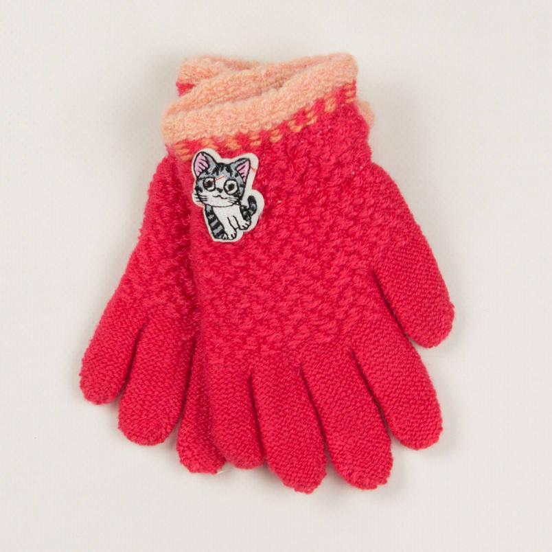 Демисезонные перчатки для девочек2-3 лет- 19-7-43 - Коралловый, фото 2