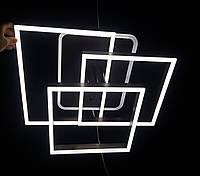 Потолочная светодиодная люстра три квадрата 135 ватт диммер, фото 1