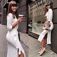 Стильное платье с ангоры белого цвета 42-44, 46-48 р-р.