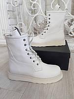 Комфортные женские ботинки BOTTEGA VENETA натуральная кожа (реплика), фото 1