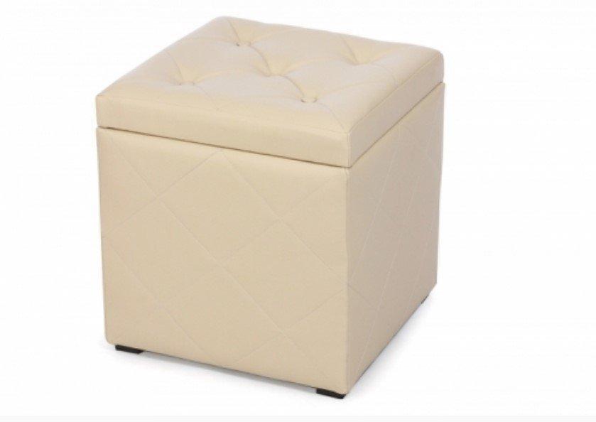 Пуф Ромби-2 Бежевый с ящиком внутри,пуфик,пуфики,пуф кожзам,пуф экокожа,банкетка,банкетки,пуф куб,п