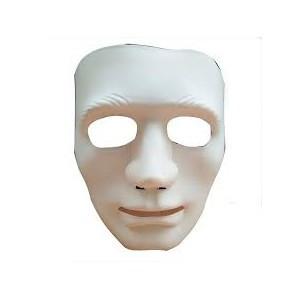 Маска лицо человека белая