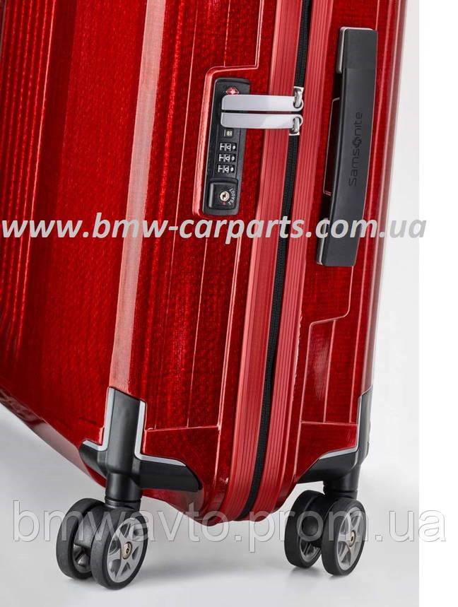 Чемодан Samsonite Lite-Box, Spinner 69, розмір M, червоний, Mercedes, фото 2