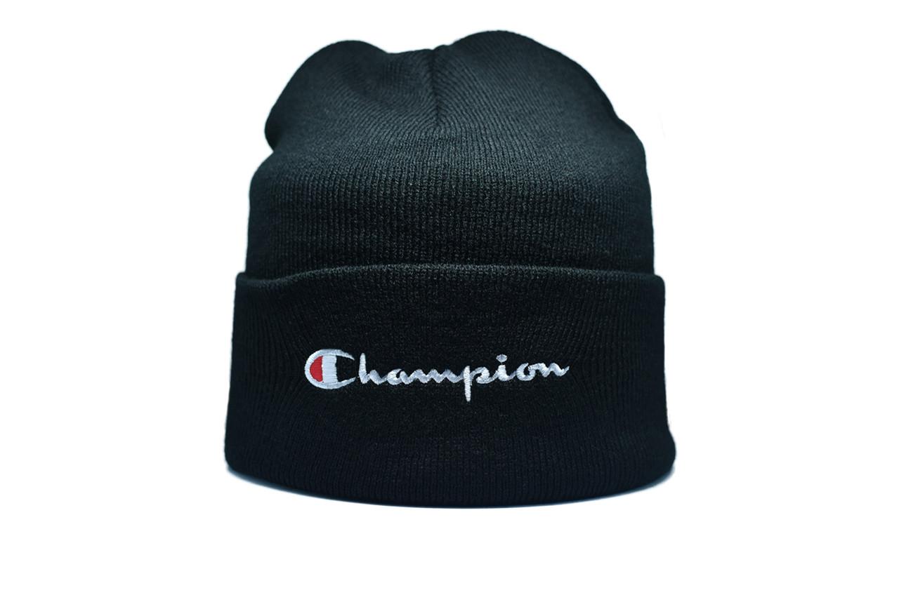 Шапка Flexfit Champion 55-59 см Чёрный (F-09118-47)