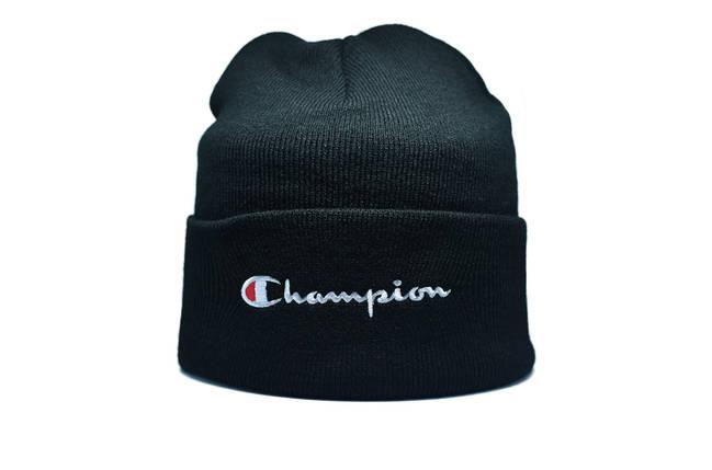 Шапка Flexfit Champion 55-59 см Чёрный (F-09118-47), фото 2