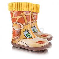Детские резиновые сапоги Demar Hawai Lux Жираф