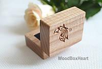 Деревянная шкатулка коробочка футляр для кольца Бабочка