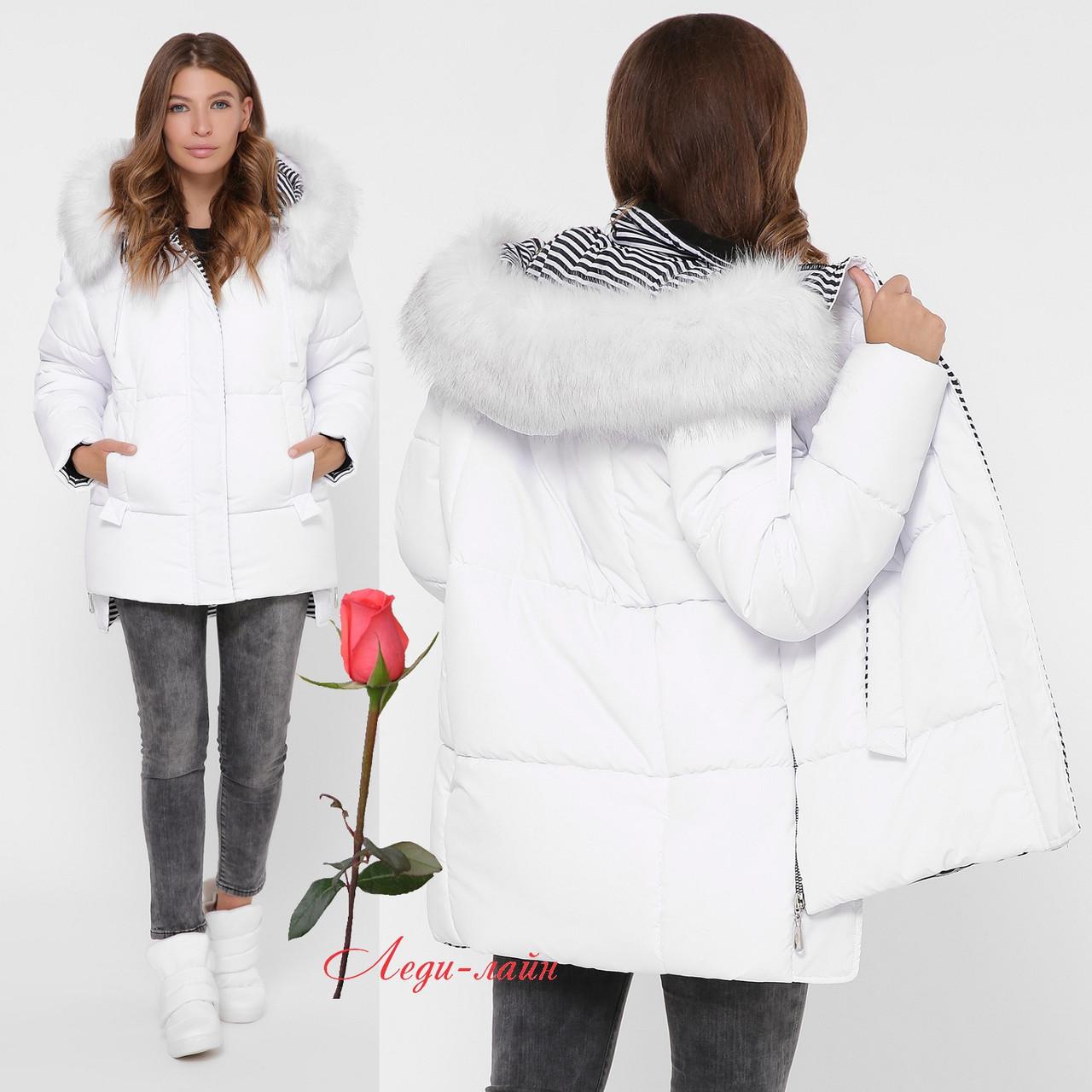Красивая зимняя женская   куртка  с утеплителем экопух  GT-LS-8840