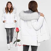 Красивая зимняя женская   куртка  с утеплителем экопух  GT-LS-8840, фото 1
