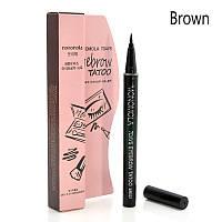 Подводка маркер карандаш для бровей с эффектом тату на 7 дней Monomola 7 Days Eyebrow Tatoo BR001Brown (коричневый)