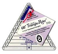 "Шаблон линейка для пэчворка Marti Michell 60 Degree Triangle Ruler 2"" to 6"", 8962M"