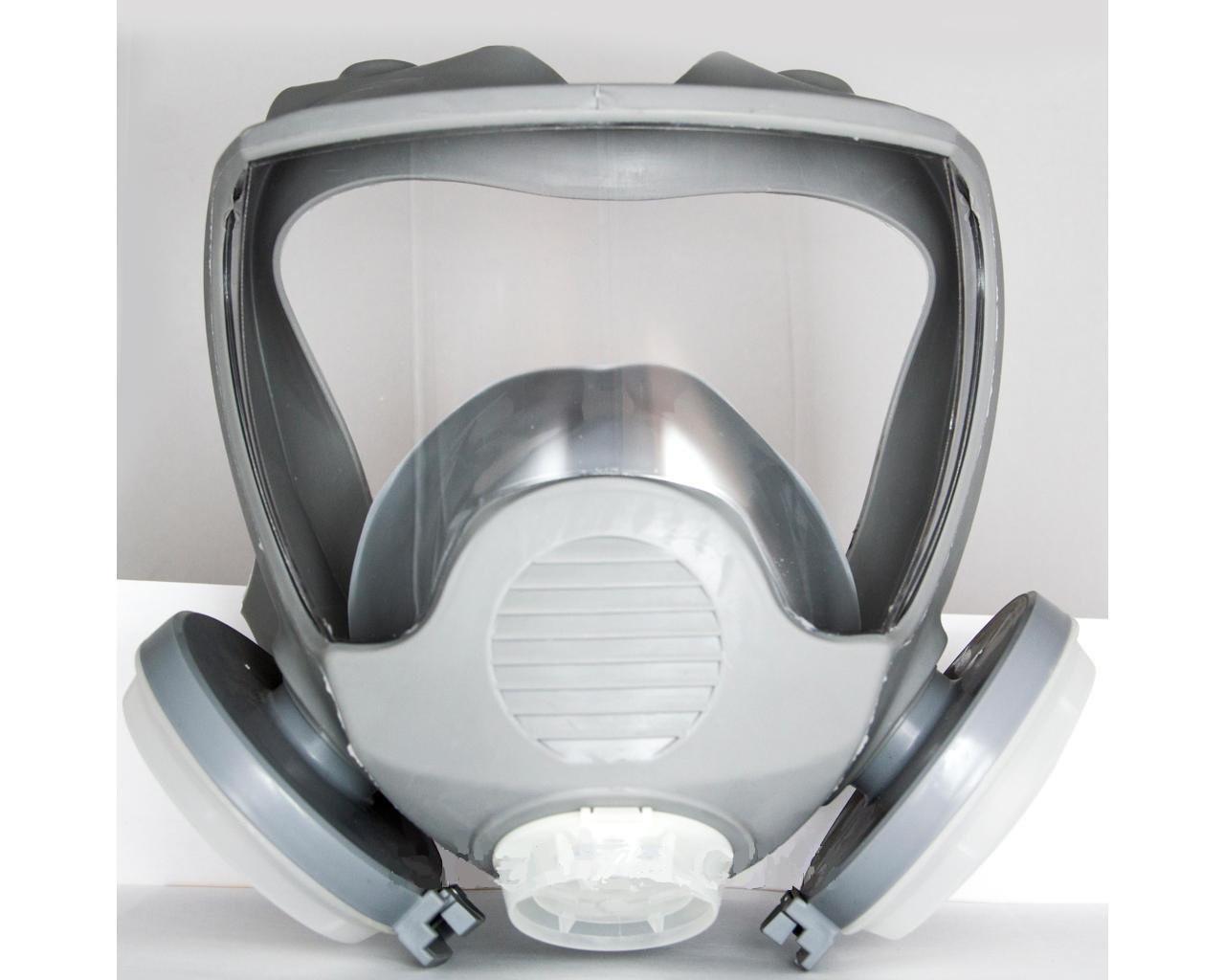 Полнолицевая маска Stalker с двумя пылевыми фильтрами (диски) в резиновой оправе