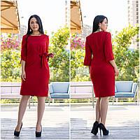 Платье батал NOBILITAS 48 - 54 красное (арт. 19050)