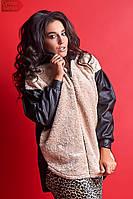 Женская меховая куртка большого размера,спущенный рукав.Размеры:48-56.+Цвета, фото 1