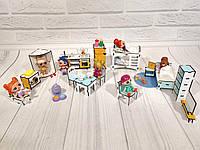 Большой комплект игровой мебели 16 ед. для кукол ЛОЛ