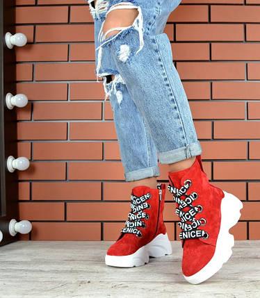 Демисезонные ботиночкиНатуральная ЗАМША, фото 2