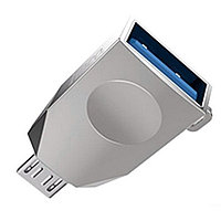 Адаптер Hoco UA10 MicroUSB -> USB OTG Pearl Nickel