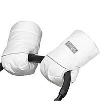 Муфта, рукавички на овчине (белая)