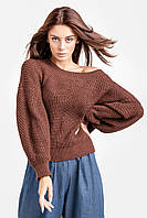 Комфортный женский джемпер цвет кирпичный, фото 1