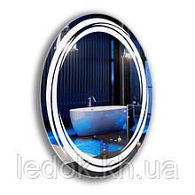 Овальное зеркало с подсветкой для ванной Line