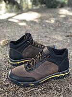Мужские ботинки из натуральной кожи и шерстяного меха AV 990 41