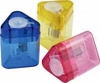 Точилка с контейнером пластиковая треугольная Mini Tri