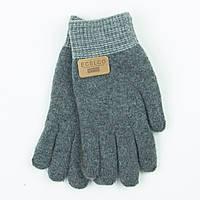 Двойные шерстяные перчатки для мальчика 4-6 лет - 19-7-19 - Серый