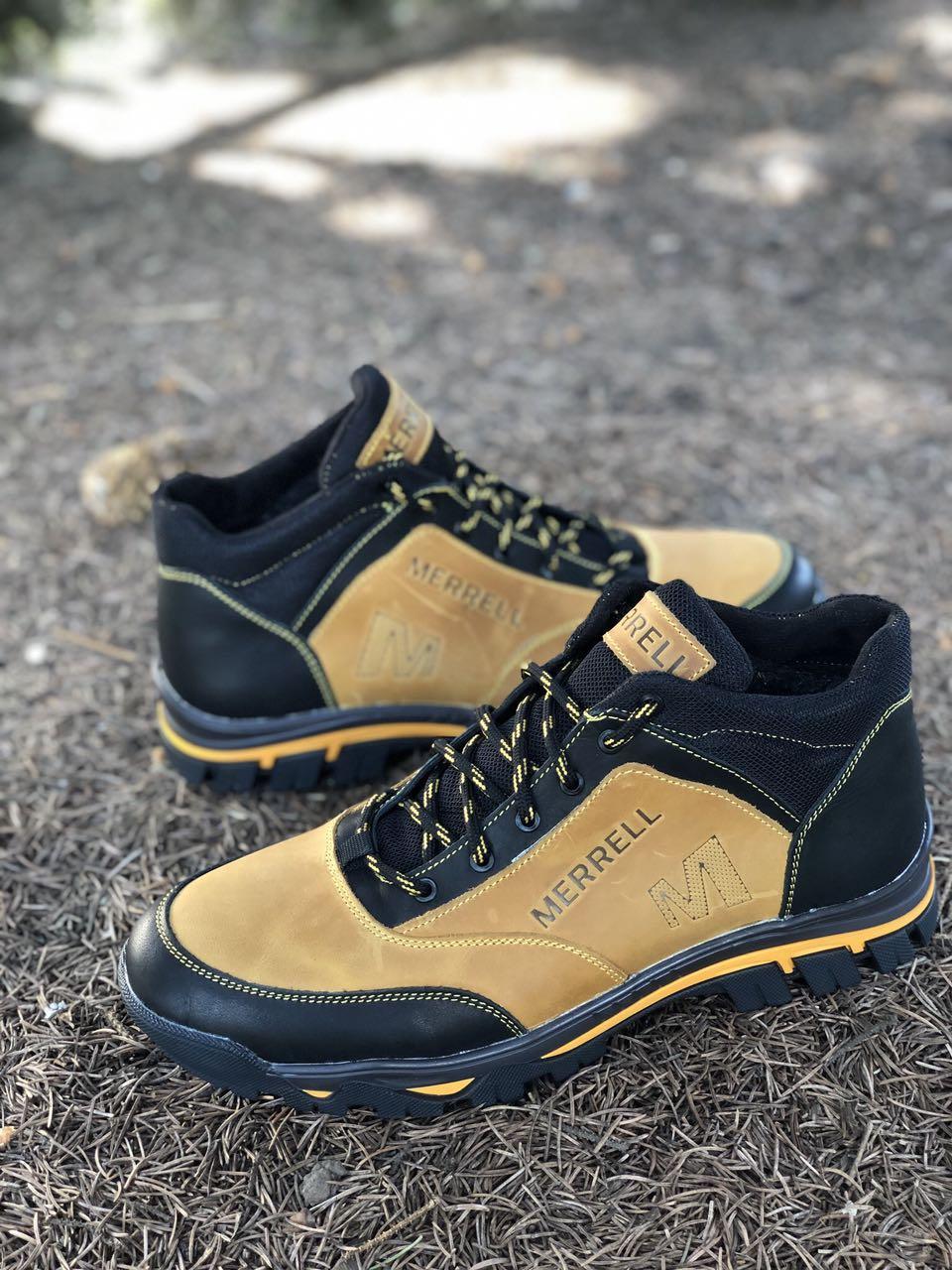 Мужские ботинки из натуральной кожи и шерстяного меха AV 990 R