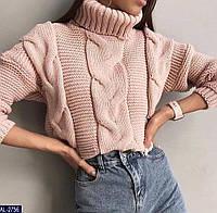 Женский стильный вязаный свитер, фото 1