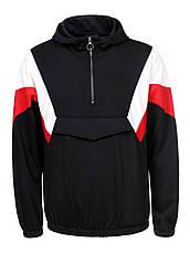 Худи (спортивная кофта) мужская  с накладным карманом спереди, фото 3