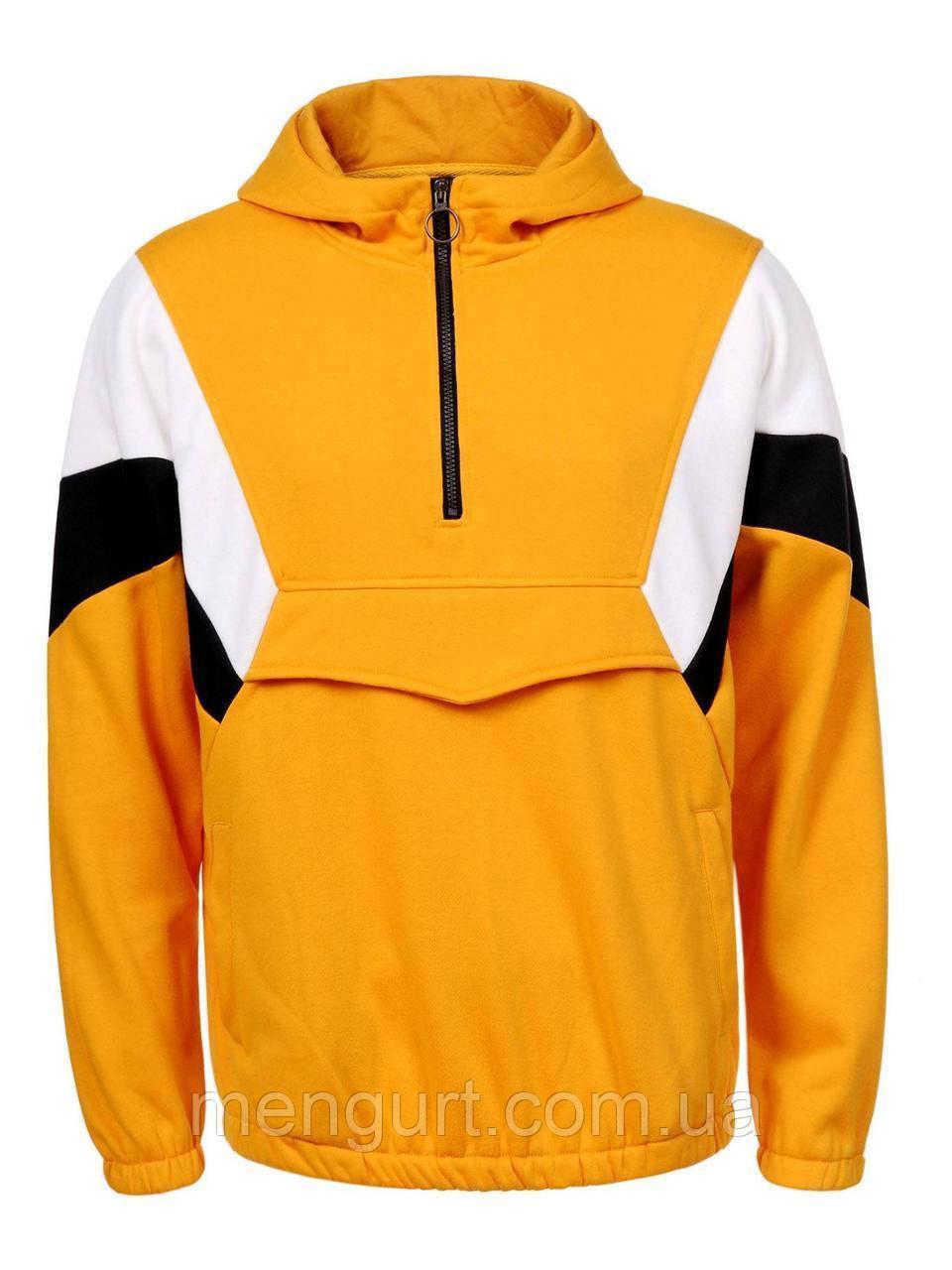 Худи (спортивная кофта) мужская  с накладным карманом спереди